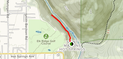 Saint Martins Mineral Hot Springs [PRIVATE PROPOERTY] Map