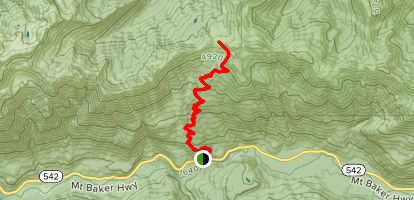 Excelsior Pass Trail Map