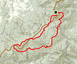 Mount Marshall Loop via Appalachian Trail Map
