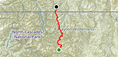 PCT: WA Section L - Rainy Pass to Manning Park, BC Map