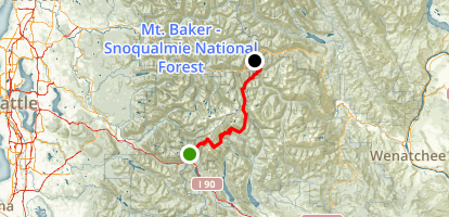 PCT: WA Section J - Snoqualmie Pass to Stevens Pass Map