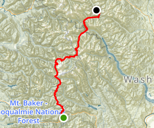 PCT: WA Section K - Stevens Pass to Rainy Pass Map