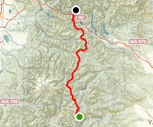 PCT: WA Section I - Highway 12 to Snoqualmie Pass Map
