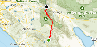 PCT: CA Section B - Warner Springs to Highway 10 - California ... Map Of Palm Springs Ca on