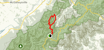 Rocky Mount and Gap Run Trails Map