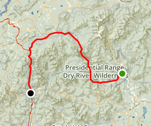 Crawford and Franconia Notches Scenic Drive: Glen to Lincoln Map