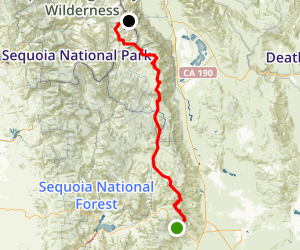 PCT: CA Section G - Walker Pass to Crabtree Meadow (Mount Whitney)  Map