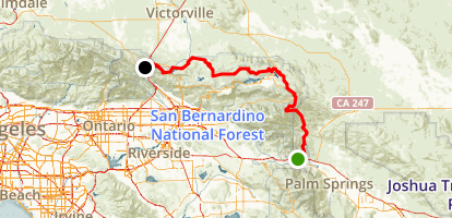 PCT: CA Section C - Highway 10 to Highway 15 (Cajon Pass) Map