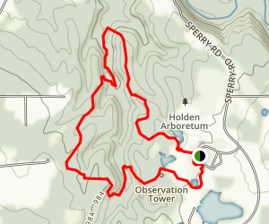 Old Valley Trail to Highlights Trail Loop Map