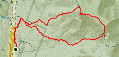 Flume Slide Trail to Liberty Spring Trail Loop Map