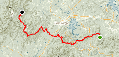 Benton Mackaye Trail: Skeenah Gap to Watson Gap Map