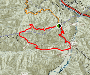 Appalachian Trail and Chestnut Branch Trail Loop Map