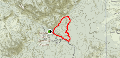 Mint Wash and Granite Basin Lake Loop Map