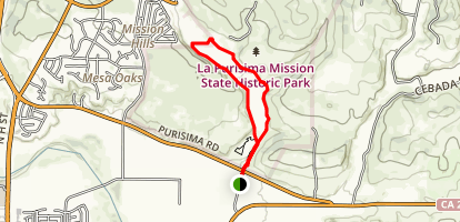La Purisima Trail Map