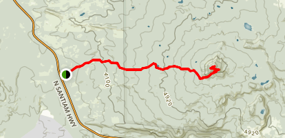 Maxwell Butte Trail Map