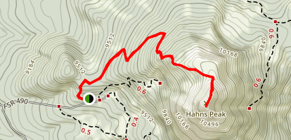 Hahns Peak Trail  Map