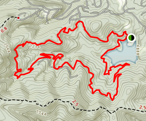 Grindstone Lake Loop Map