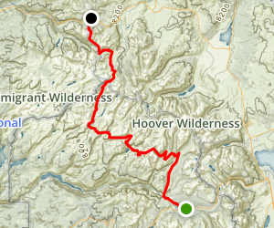PCT: CA Section I - Tuolumne Meadow to Sonora Pass Map