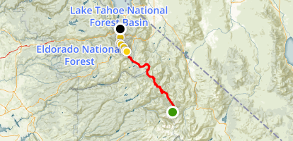 PCT: CA Section J - Sonora Pass to Echo Lake Map