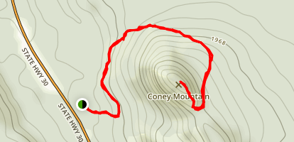 Coney Mountain Map