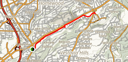 Lakeshore Trail (Homewood Shades Creek Greenway) Map