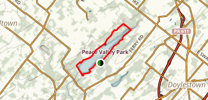 Peace Valley Nature Center Map