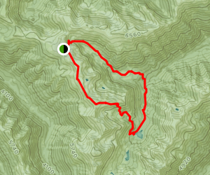 Badger Valley Trail to Grand Lake Map
