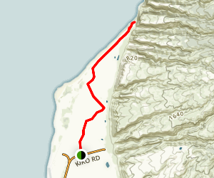 Polihale Beach Trail (Barking Sands Beach) Map