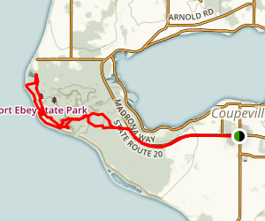 Central Whidbey Island: Coupeville and Fort Casey Map