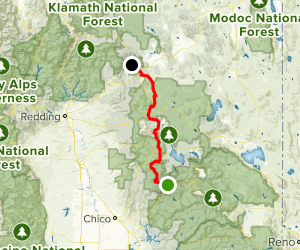 PCT: CA Section N - Belden to Burney Falls State park Map
