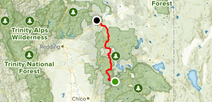 PCT: CA Section N - Belden to Burney Falls State park - California California State Parks Map on