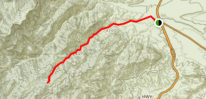 South Fork Deer Creek Trail Map