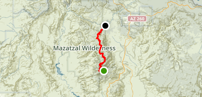 Mazatzal Divide Map