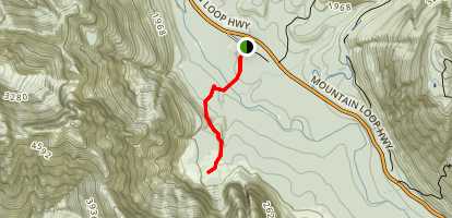 Big Four Ice Caves Trail Map