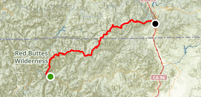 PCT: CA Section R - Seiad Valley to HIghway 5 (Siskiyou Mountains) Map