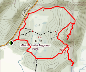 Minnekhada High Knoll Loop Trail Map
