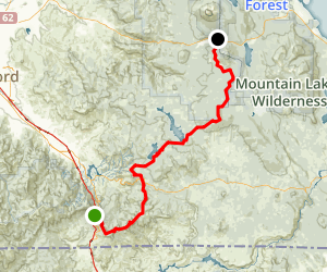 PCT: OR Section B - Highway 5 to Highway 140 (Fish Lake) Map
