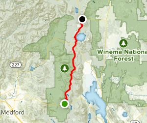PCT: OR Section C - Highway 140 to Highway 138 (Cascade Crest) Map