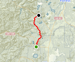 PCT: OR Section D - Highway 138 to Highway 58 (Willamette Pass) Map