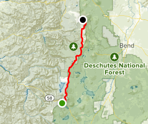 PCT: OR Section E - Highway 58 to Highway 242 (McKenzie Pass) Map