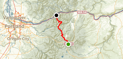 PCT: OR Section G - Highway 35 to Cascade Locks (Bridge of the Gods) Map
