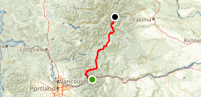 PCT: WA Section H - Cascade Locks to Highway 12 (White Pass) Map