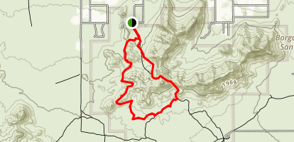 Goldmine Trail to San Tan Trail Loop Map
