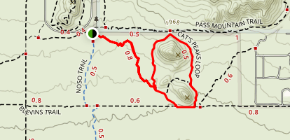 Cat Peaks Trail via Belvins Trail Map