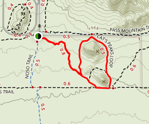 Cat Peaks Trail via Blevins Trail Map