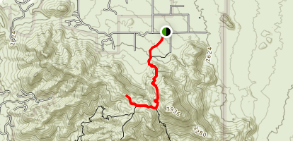 Tom's Thumb Trail Map