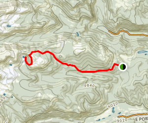 Jenny Creek Trail to Yankee Doodle Lake Map