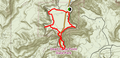 Dead Horse Rim Loop Trail Map