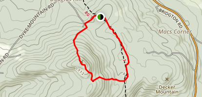 Douglas Mountain Loop Trail Map