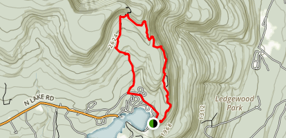 Artist's Rock, Sunset Rock, and Newman's Ledge via Mary's Glen Trail Map